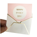Gold Stamping Happy Birthday Thank You Greeting Cards
