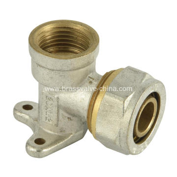 Brass compression Wall plate elbows