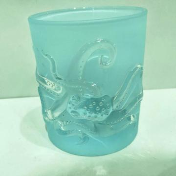 2020 New arrival ocean pattern glass cups for candle making