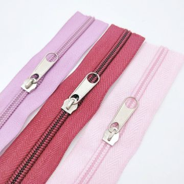 Well-made multicolored nylon long zippers for garment