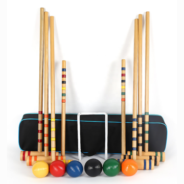 Classic Croquet Set including Wooden Mallets
