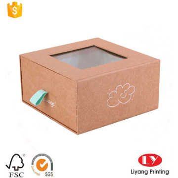 Luxury drawer gift packing box with window
