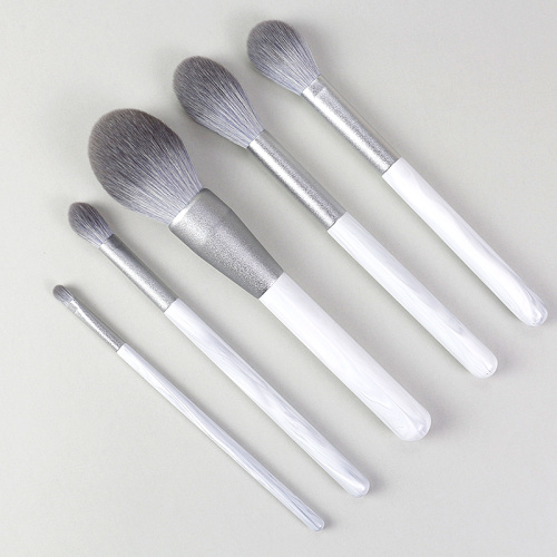 The latest silver-gray makeup brush set for 2021