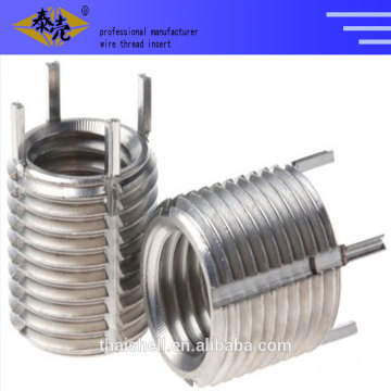 Thread insert keenserts and Key-locked screw thread coils