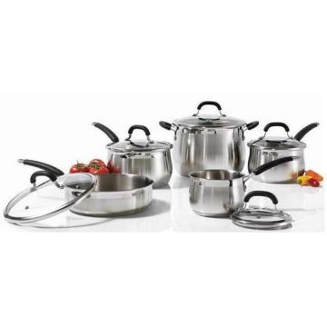 Stainless Steel Cookware Set 10PCS Kitchenware