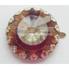 New Metallic Footwear Trimming, Fashion Accessories of Shoe Flower with Glass Stones Trimming