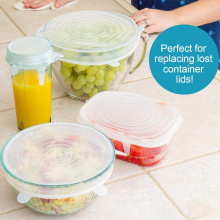 12pcs/set Silicone Fresh-keeping Cover Vegetable Food Wrap Elastic Stretch Seal Lids Transparent Cover