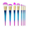 Rainbow Handle Synthetic Hair Makeup Brushes