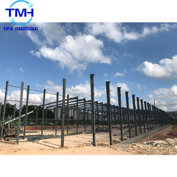 pre engineered large span steel structure factory building