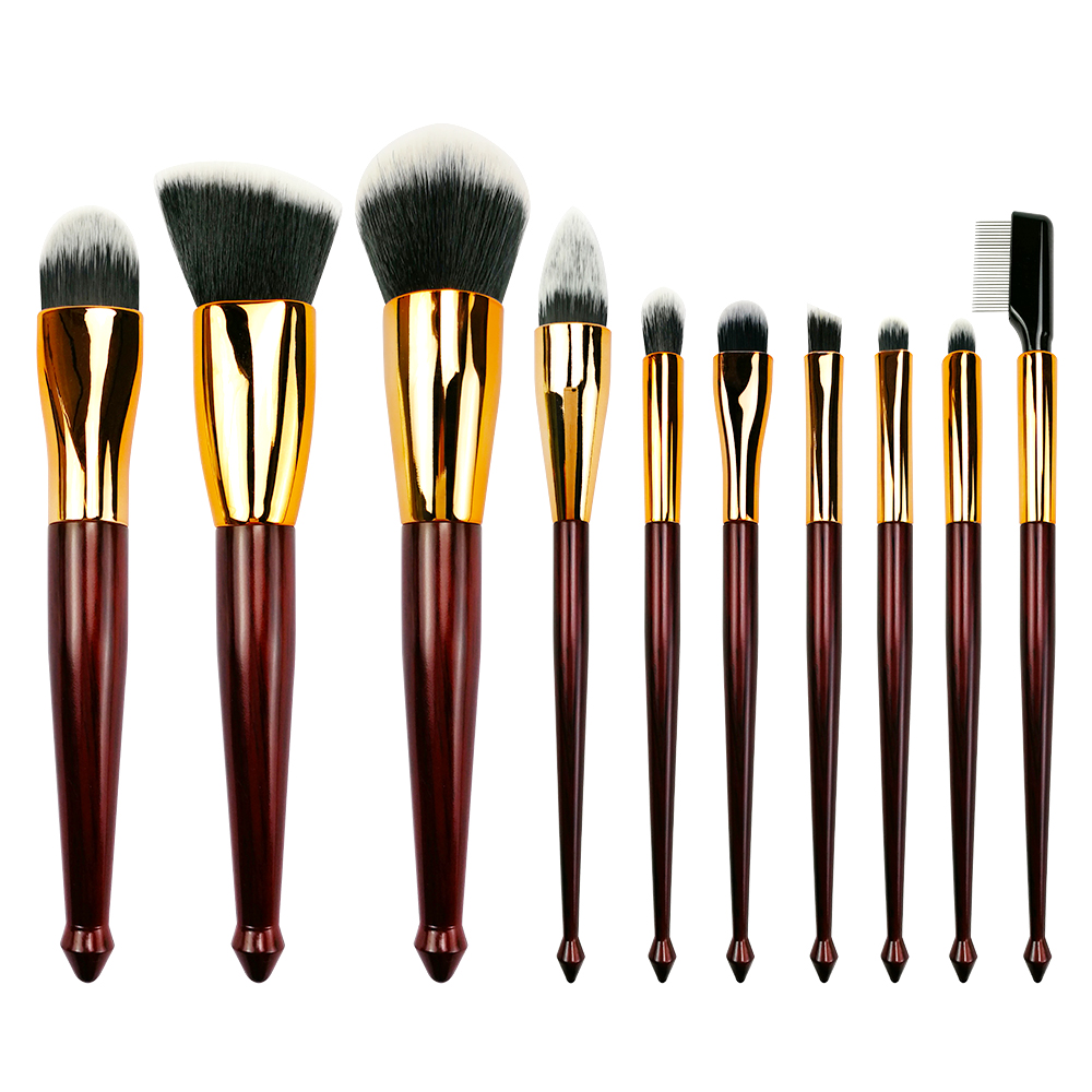10pc Face Eye Makeup Brush Set