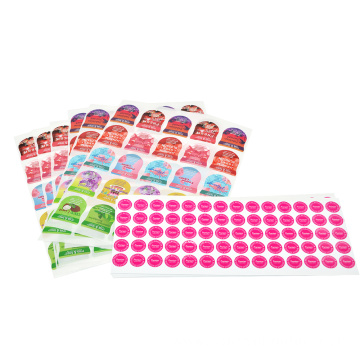 PET PE PPpaper material self adhesive label stickers