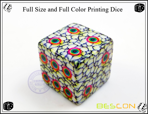 Full Size and Full Color Printing Dice-2
