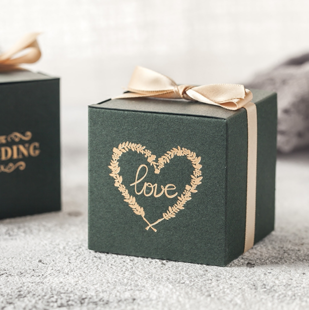 Square candy packaging box wedding