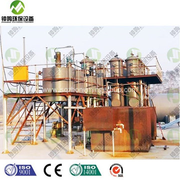 Simple Plastic Pyrolysis Oil Refining Plant