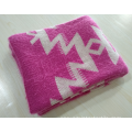 Fashion Knitted Jacquard Blanket