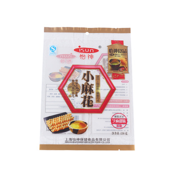 Printed Transparent  Snacks Packaging Bag