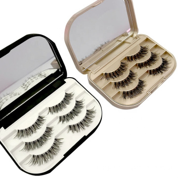 Approvisionnement direct d'usine 3 paires de marques privées False Eyelashes / Fales lashes Vente en gros Cheap Eyelashes 3D cils de vison