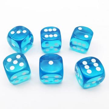 14.5MM Printing Precision Dice Translucent Blue 0.57inch