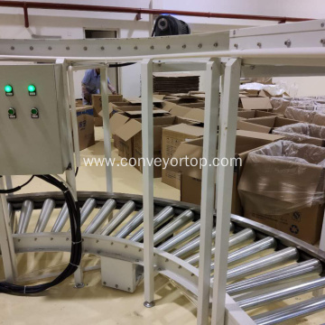 High Quality Gravity Curved Roller Conveyor System