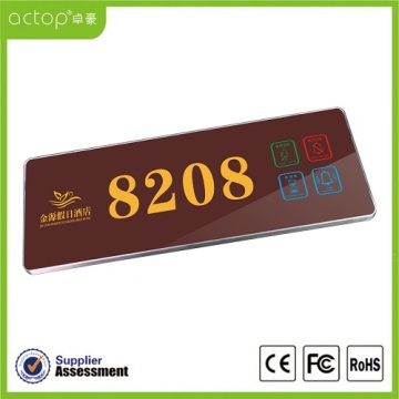 Fashion Electronic Hotel Room Door Number Plates
