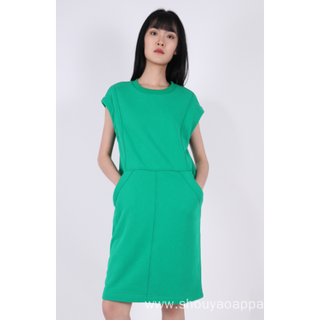 LADIES SLEEVELESS MIDI DRESS