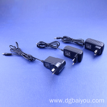 Power Adapter 12V 1-2A In US British Eur