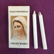 Panama 29G Round White Catholic Candle