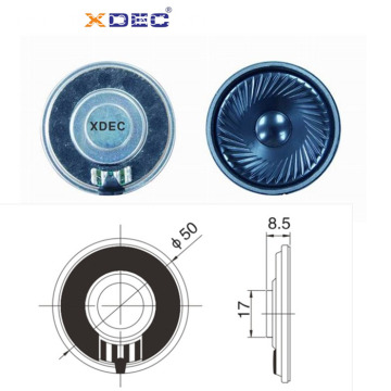 thin size 50mm loud sound siren speaker 8ohm