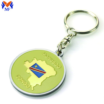 Metal custom coin holder keychain holder