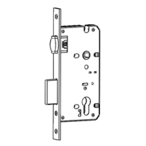 Roller latch mortise lock with deadbolts