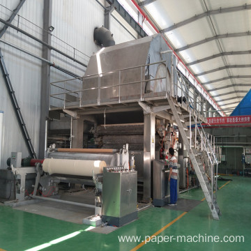 Unbleached Wood Pulp Toilet Paper Making Machine
