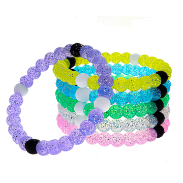 Birthday Party Favors Silicone Cute Glitter Bracelets