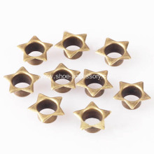 Star Shaped Eyelets Antique Brass for Fabric