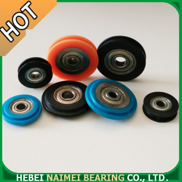 U Groove Plastic Roller For Sliding Door