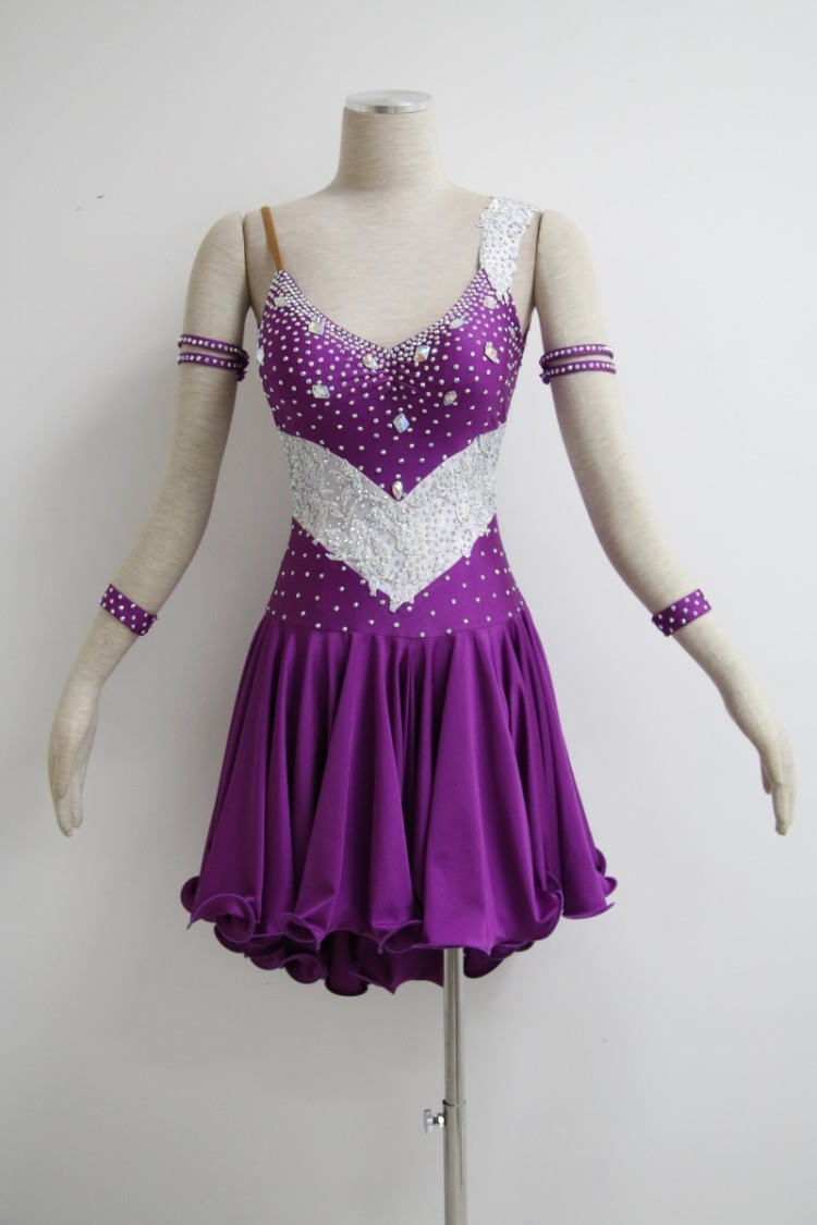 Purple Latin Dance Dress