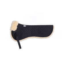 Black Quilt Sheepskin Half Saddle Pad