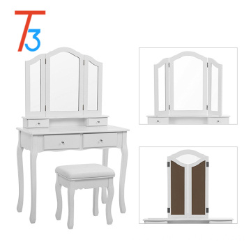 simple plywood vanity dressing table designs mirror with drawer