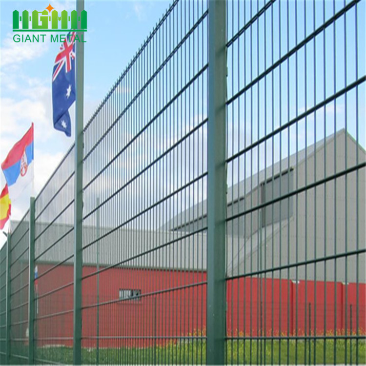Cheap Custom Metal Welded Double Horizontal Fence Panel
