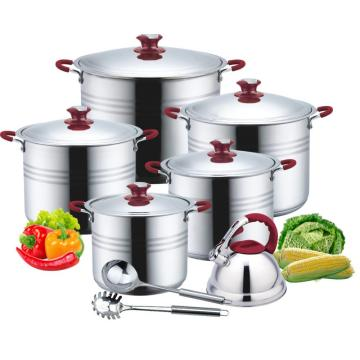 Soft touch 13pcs stock pot costco