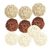 10PCS Wicker Rattan Balls Natural Spheres DIY Craft Wedding Decoration House Ornaments Vase Filler Cafe Shop Ornament