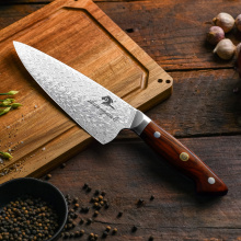 High Quality 8 Inch Damascus Kitchen Knife Professional Chef Knife Cooking Tools Tartness Slicing Knives Cleaver Knive