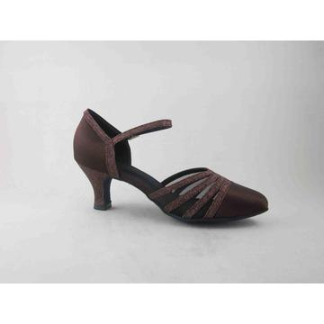 Brown satin dance shoes uk