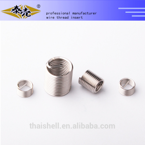 helical threaded insert for metal