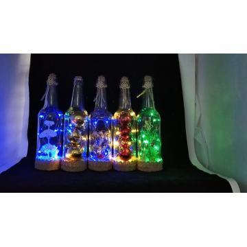 Festivals Glass Bottles with LED String Lights