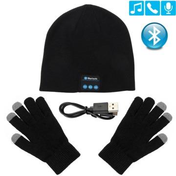 Bluetooth Headphone Winter Hat Warm Beanie Music Cap With Gloves Wireless Bluetooth Earphone Speaker With Mic Sport Hat Headset