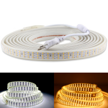 LED Strip 220 V 220V Three Row 276Leds/m SMD 2835 Waterproof IP67 LED Rope Lights Warm White Decoration Outdoor Garden Lamp Tape