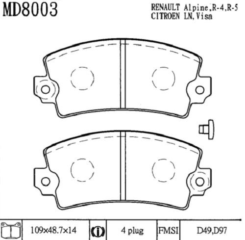 Warnkontakt Auto Car Parts Verschlei/ßanzeiger 1 St/ück Brake Wear Indicator Made in Germany