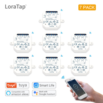 LoraTap Smart Home Wifi Switch Light Automation 1 Gang 10A Timer DIY Works with Google Home Amazon Alexa Remote Controller