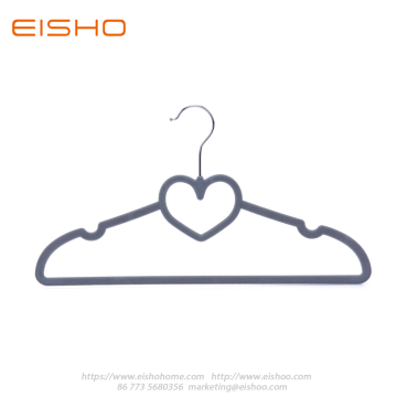 Ultral Thin Grey Heart-shape Velvet Shirt Hanger FV005-42