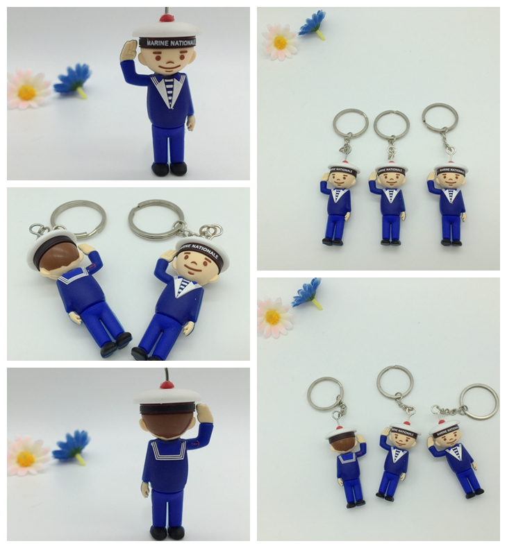 3D silicone key chains